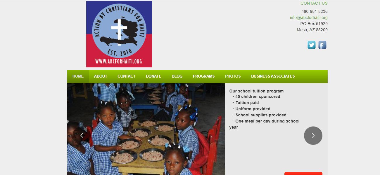 Action by Christians for Haiti - Design Marketing Firm Phoenix AZ