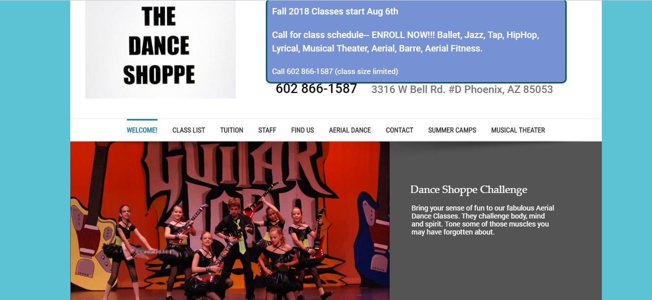 The Dance Shoppe - Design Marketing Firm Phoenix AZ