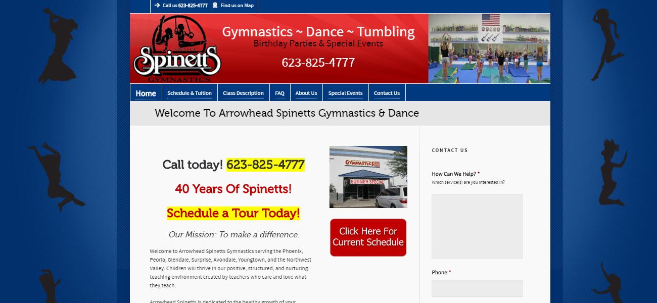Arrowhead Spinetts Gymnastics & Dance - Design Marketing Firm Phoenix AZ
